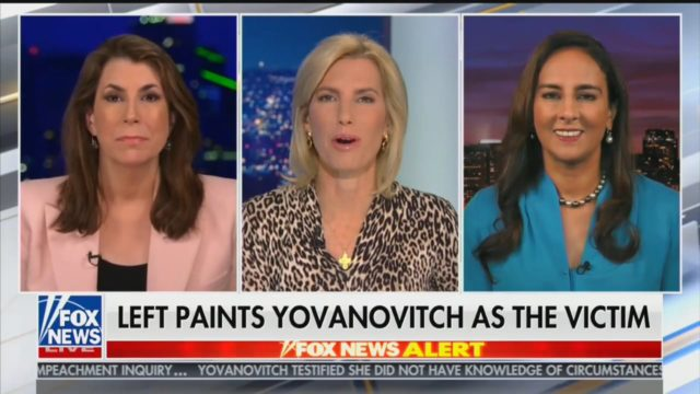 the Left Painting Marie Yovanovitch as the Victim